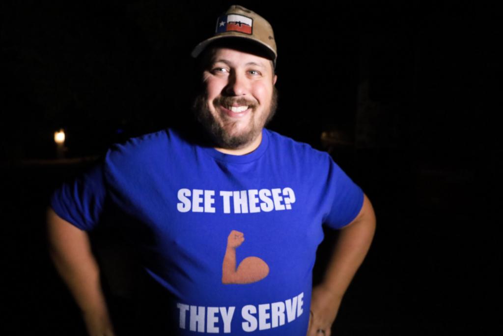 Blue t-shirt Summer to Serve